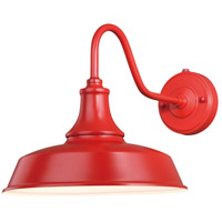 Vaxcel T0487 Dorado 1 Light 12 inch Red with Inner White Outdoor Wall Light