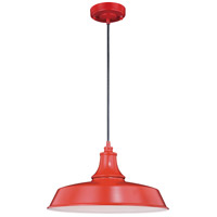 Vaxcel T0489 Dorado 1 Light 15 inch Red with Inner White Outdoor Pendant