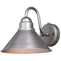 Vaxcel T0490 Outland 1 Light 9 inch Brushed Pewter Outdoor Wall