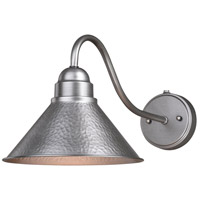 Vaxcel T0491 Outland 1 Light 10 inch Brushed Pewter Outdoor Wall Light
