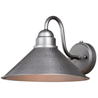 Vaxcel T0494 Outland 1 Light 9 inch Brushed Pewter Outdoor Wall Light