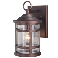 Vaxcel T0518 Southport 1 Light 12 inch Sienna Bronze Outdoor Wall