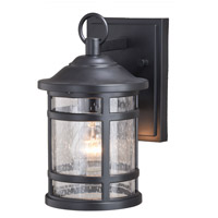 Vaxcel T0522 Southport 1 Light 10 inch Matte Black Outdoor Wall