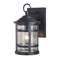 Vaxcel T0523 Southport 1 Light 12 inch Matte Black Outdoor Wall