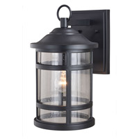 Vaxcel T0524 Southport 1 Light 15 inch Matte Black Outdoor Wall Light