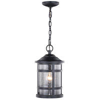 Vaxcel T0525 Southport 1 Light 9 inch Matte Black Outdoor Pendant