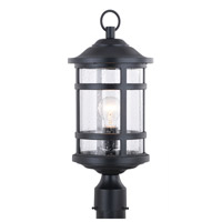 Vaxcel T0526 Southport 1 Light 20 inch Matte Black Outdoor Post photo thumbnail