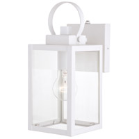 Vaxcel T0553 Medinah 1 Light 12 inch Textured White Outdoor Wall