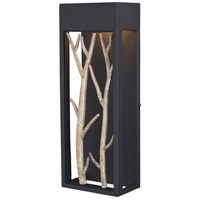 Vaxcel T0561 Ocala LED 16 inch Textured Black and Poplar Outdoor Wall