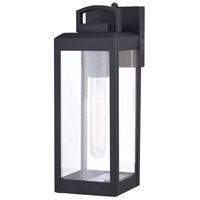 Vaxcel T0566 Kinzie 1 Light 14 inch Textured Black Outdoor Wall