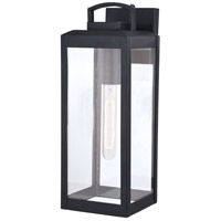 Vaxcel T0567 Kinzie 1 Light 17 inch Textured Black Outdoor Wall