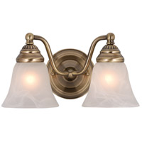 Vaxcel VL35122A Standford 2 Light 13 inch Antique Brass Bathroom Light Wall Light