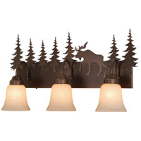 Vaxcel VL55603BBZ Yellowstone 3 Light 25 inch Burnished Bronze Vanity Light Wall Light photo thumbnail