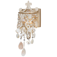Vaxcel W0008 Anastasia 1 Light 6 inch Silver Leaf Bathroom Light Wall Light