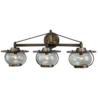 Vaxcel W0018 Jamestown 3 Light 27 inch Parisian Bronze Bathroom Light Wall Light