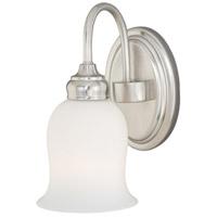 Vaxcel W0023 Snowdrop 1 Light 6 inch Satin Nickel Bathroom Light Wall Light