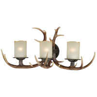 Vaxcel W0046 Yoho 3 Light 28 inch Black Walnut Bathroom Light Wall Light