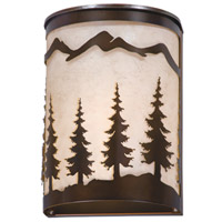 Vaxcel W0047 Yosemite 1 Light 8 inch Burnished Bronze Vanity Light Wall Light