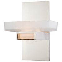 Vaxcel W0079 Gatsby 1 Light 8 inch Polished Nickel Vanity Light Wall Light