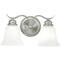 Vaxcel W0090 Darby 2 Light 15 inch Satin Nickel Vanity Light Wall Light