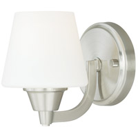 Vaxcel W0097 Calais 1 Light 5 inch Satin Nickel Vanity Light Wall Light