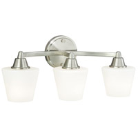 Vaxcel W0099 Calais 3 Light 20 inch Satin Nickel Vanity Light Wall Light
