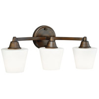 Vaxcel W0102 Calais 3 Light 20 inch Venetian Bronze Vanity Light Wall Light