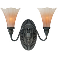 Vaxcel W0109 Lily 2 Light 16 inch Walnut Patina Vanity Light Wall Light