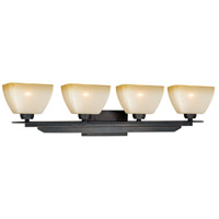 Vaxcel W0115 Descartes II 4 Light 35 inch Architectural Bronze Vanity Light Wall Light