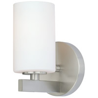 Vaxcel W0120 Glendale 1 Light 5 inch Satin Nickel Vanity Light Wall Light