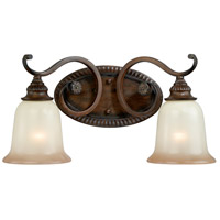Vaxcel W0127 Parkhurst 2 Light 19 inch Aged Walnut Bathroom Light Wall Light