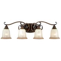 Vaxcel W0129 Parkhurst 4 Light 33 inch Aged Walnut Vanity Light Wall Light
