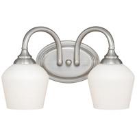 Vaxcel W0140 Grafton 2 Light 15 inch Satin Nickel Bathroom Light Wall Light