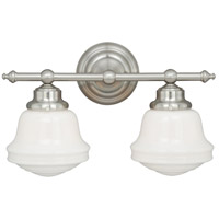 Vaxcel W0169 Huntley 2 Light 16 inch Satin Nickel Bathroom Light Wall Light