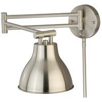Vaxcel W0175 North Avenue 29 inch 10.00 watt Satin Nickel Swing Arm Wall light