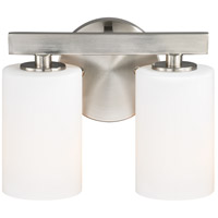 Vaxcel W0227 Glendale 2 Light 10 inch Satin Nickel Bathroom Light Wall Light