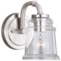 Vaxcel W0239 Toledo 1 Light 8 inch Satin Nickel Bathroom Light Wall Light