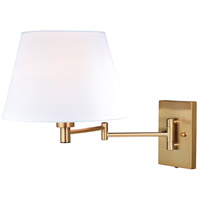 Chapeau 1 Light 12 inch Natural Brass Sensor Wall Light