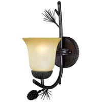 Vaxcel W0267 Sierra 1 Light 6 inch Black Walnut Vanity Light Wall Light