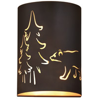Vaxcel W0277 Katmai 2 Light 5 inch Noble Bronze and Inner Brass Gold Wall Light photo thumbnail