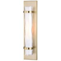 Vaxcel W0310 Vilo 1 Light 5 inch Golden Brass Bathroom Light Wall Light
