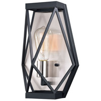 Vaxcel W0319 Hailey 1 Light 9 inch Black Graphite / Satin Nickel Wall Light