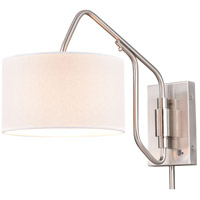 Vaxcel W0327 Marcin 21 inch 60 watt Satin Nickel Swing Arm Wall Light