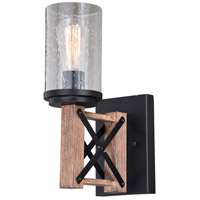 Vaxcel W0336 Colton 1 Light 5 inch Rustic Oak with Noble Bronze Wall Sconce Wall Light