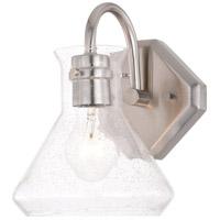 Vaxcel W0338 Curie 1 Light 9 inch Satin Nickel Bathroom Light Wall Light