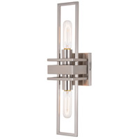 Vaxcel W0346 Marquis 2 Light 5 inch Satin Nickel Wall Light