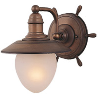 Vaxcel WL25501RC Orleans 1 Light 11 inch Antique Red Copper Bathroom Light Wall Light