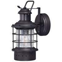 Vaxcel T0254 Hyannis 1 Light 12 inch Textured Black Outdoor Wall Light