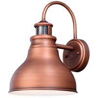 Vaxcel T0293 Delano 1 Light 13 inch Brushed Copper Outdoor Wall Light