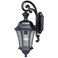 Vaxcel T0320 Aberdeen 1 Light 23 inch Shiny Black Outdoor Wall Light